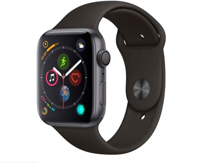 Watch Series 4 GPS 44mm Cinza Espacial Case with Preto Sport Band – Apple